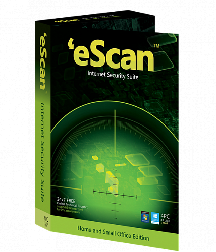 eScan Internet Security with Cloud Security renewal, 1 ПК, 1 год