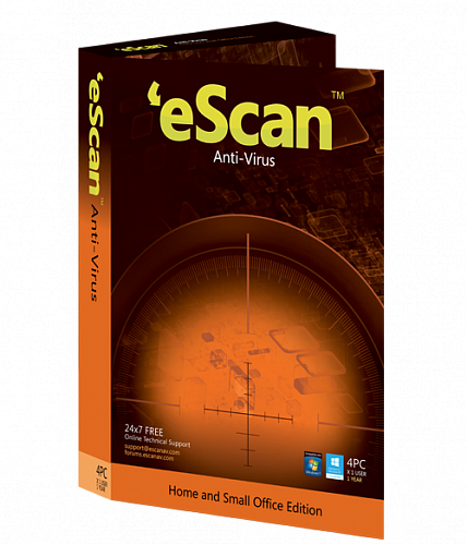 eScan Antivirus (AV) with Cloud Security renewal, 1 ПК, 1 год